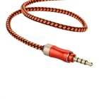 3.5mm macho a macho audio de coche Cable AUX - naranja (150cm)
