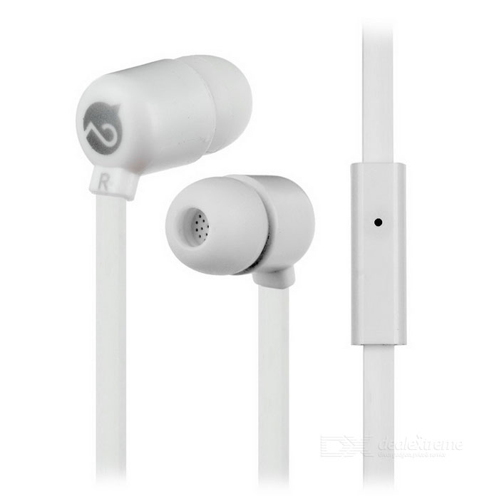 MOGCO M5 universele 3,5 mm in-ear hoofdtelefoon w / mic. - wit