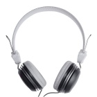 Universal 3.5mm Plug Hi-Fi Headband Stereo Headphone for Phone, MP3, Tablet, PSP - White + Gray