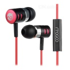 MOGCO M3 Universal High Quality 3.5mm In-Ear Earphones w/ Mic. - Red + Black
