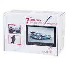 "7"" HD HDMI LCD Display Screen Monitor w/ VGA, HDMI, AV, Audio - Black"