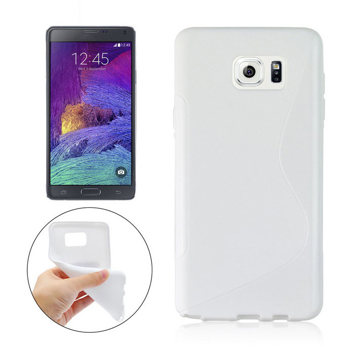 "Angibabe ""S"" Pattern TPU Back Case for Samsung Note 5 N9200 - White"