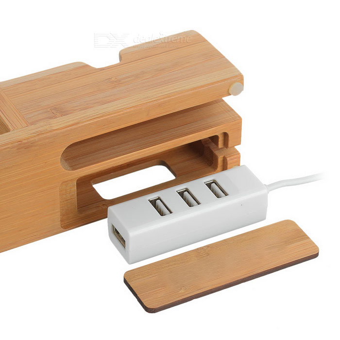 Wooden Charging Dock ~ Phone bracelet holder wooden charging dock for iphone