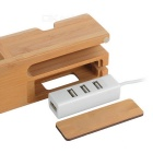 Phone / Bracelet Holder Wooden Charging Dock for IPHONE + More - Brown