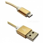 Aluminum Joint USB 2.0 to Micro USB Cable for Samsung - Golden (1.5m)