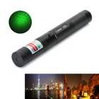 5mW 532nm Starry Sky Green Laser Pointer - Black + Silver (1 x 18650)