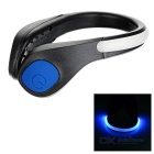 Outdoor Sports Cycling Jogging Blue Light 2-Mode Safety Warning Shoes Wrist LED Light Clip - Black