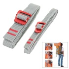 NatureHike Outdoor Nylon Bundling Belt Strap Webbing w/ Quick Release Buckle - Grey (2m / 2pcs)