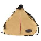 Caden K1 Waterproof Fashion Casual Triangle Camera Shoulder Bag for Canon Nikon Pentax DSLR - Khaki