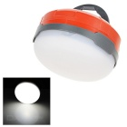 QOOFY 1W 3-LED 3-Mode 100lm 6000K Weiß Außenhänge Camping Laterne Lampe - Orange Red + White