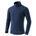 NatureHike Close-fitting Warm Breathable Half-Zip Stand Collar Long Sleeved Polar Fleece T-Shirt (L)