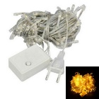 9.5m 6W 100 LED Weihnachts Yellow LED Lichterkette (AC 220-240V)