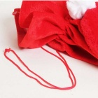 Christmas Upscale Plush Elderly Large Gift Santa Claus Dress Bag - Red