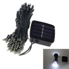 6W 100 LED Solar Light Sensor Garten dekoratives Licht Ferien White Light String - Hellgrün