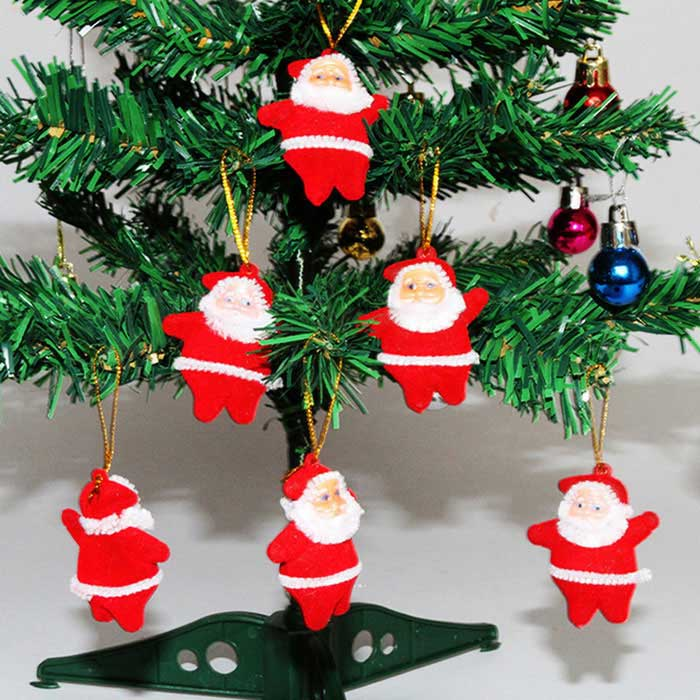 Santa Claus Christmas Tree Ornaments Small Pendant (6PCS)