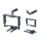 YELANGU Aluminum Alloy Portable DSLR Camera Cage - Black + Blue