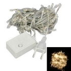 EU-Stecker 6W 3200K 60lm Warmweiß 100-LED Christmas Decorative String Licht (AC 220 ~ 240V / 9,5 m)