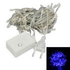 EU-Stecker 6W 480nm 60lm Blue Light 100 LED-Christmas Decorative String Licht (AC 220 ~ 240V / 9,5 m)