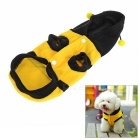 Bumblebee Bee Style Pet Dog Cat Puppy Dress Up Costume Coat Clothes - Yellow + Gun Black (S)