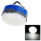 QOOFY 3W 6-LED 3-Mode 100lm 6000K White Light Außenhänge Camping Laterne Lampe - Blau + Weiß