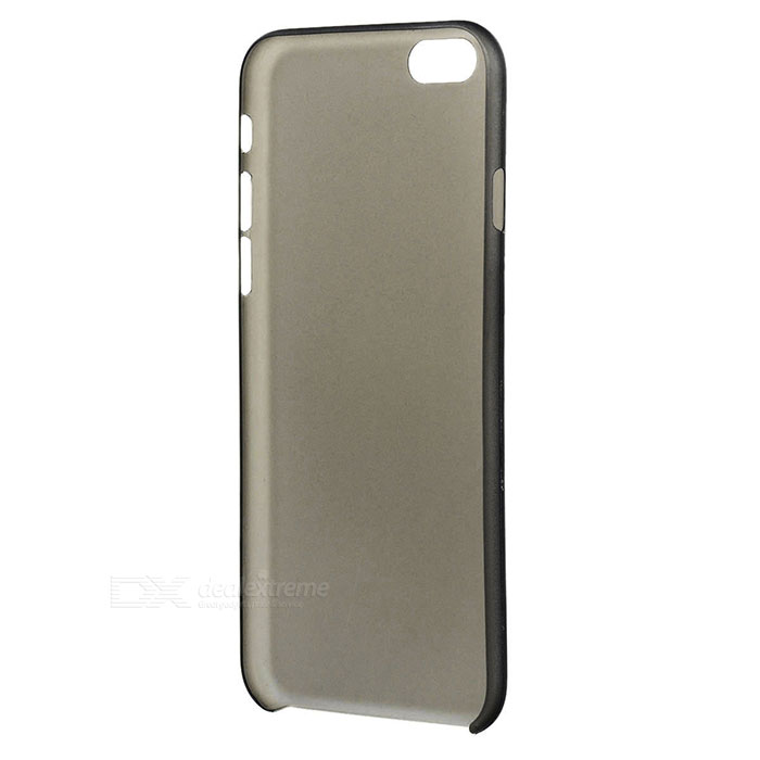 S-what mate PP caso trasero para IPHONE 6 / 6S - negro transparente