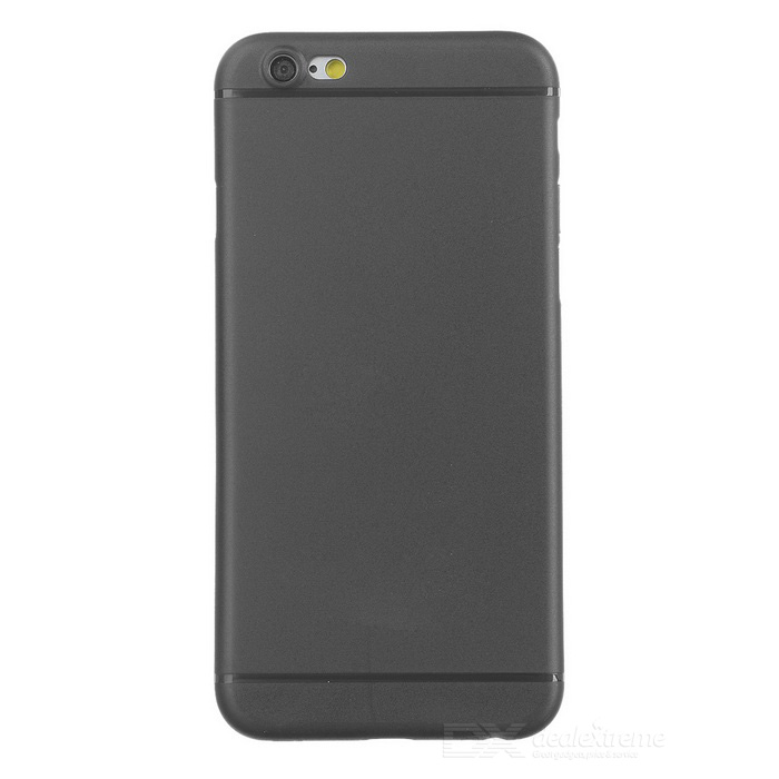 0.3mm Protective Edge Covered Matte Plastic Back Case for IPHONE 6S PLUS - Transparent Black