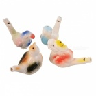 Ceramic Dragon + Parrot + Swallow Style Whistle Set - Multicolored