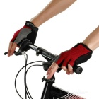 MOke Cycling Sweat-Absorbing Half-Finger Gloves - Black + Red (XL)