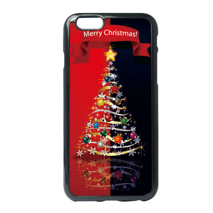 Children Painting A Sparkling Christmas Tree Style TPU Back Case for IPHONE 6 / 6S PLUS