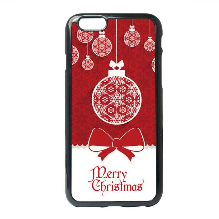 Merry Chirstmas & Bowknot Pattern Protective TPU Back Case for IPHONE 6 PLUS / 6S PLUS - Red + White