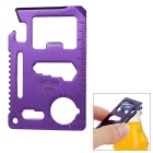 Multi-Function Carbon Steel Tool Knife Card - Purple