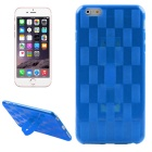 Hat-Prince Weave Pattern Protective TPU Soft Case with Stand for IPHONE 6 Plus / 6S Plus - Dark Blue