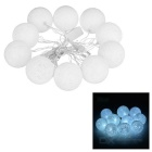 4m 2W 10-LED Yarn Ball Style Light String Cool White (AC 220V)