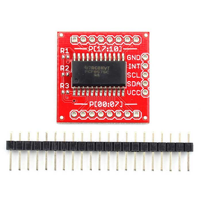 Jtron PCF8575 16Pin quasi-bidirectionnel IIC I2C & smbus i / o expandeur - rouge