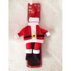 Christmas Clothes Decoration Bottle Cover Set - Red + White