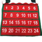 Christmas Velvet Hot Flower Old Calendar Christmas Decoration - Red