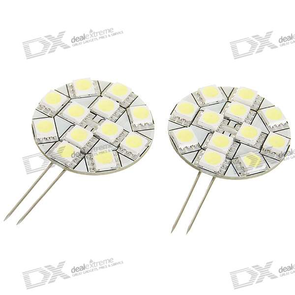 Household 1.8W 5050 12-LED Decorative LED Light - White (DC 12V)