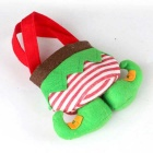 Plush Candy Elf Christmas Gift Bags - Green