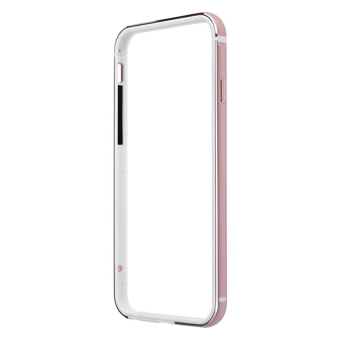 Aluminum + Silicone Bumper Frame Case for IPHONE 6 / 6S - Rose Golden