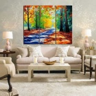Frame-free Forest Landscape Painting Canvas Wall Art Picture (3PCS)