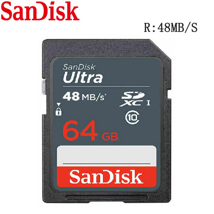 SanDisk Ultra 64GB SDHC Class 10 UHS-1 48MB/s Memory Card - Grey