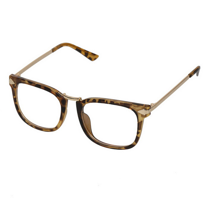 Women's Fashion High Nickel Alloy + PC Frame PC Lenses Sunglasses - Yellow + Leopard Pattern