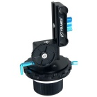 YELANGU YLG0103C Follow Focus w/ A/B Hard Stops & Gear Ring Belt for DSLR Camera - Black + Blue