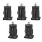 MAIKOU Dual USB Car Cigarette Lighter Charger - Black (5PCS)
