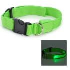 LED Flashing Night Safety Collar for Pet Dog / Cat - Green (Size M / 1 x CR2032)