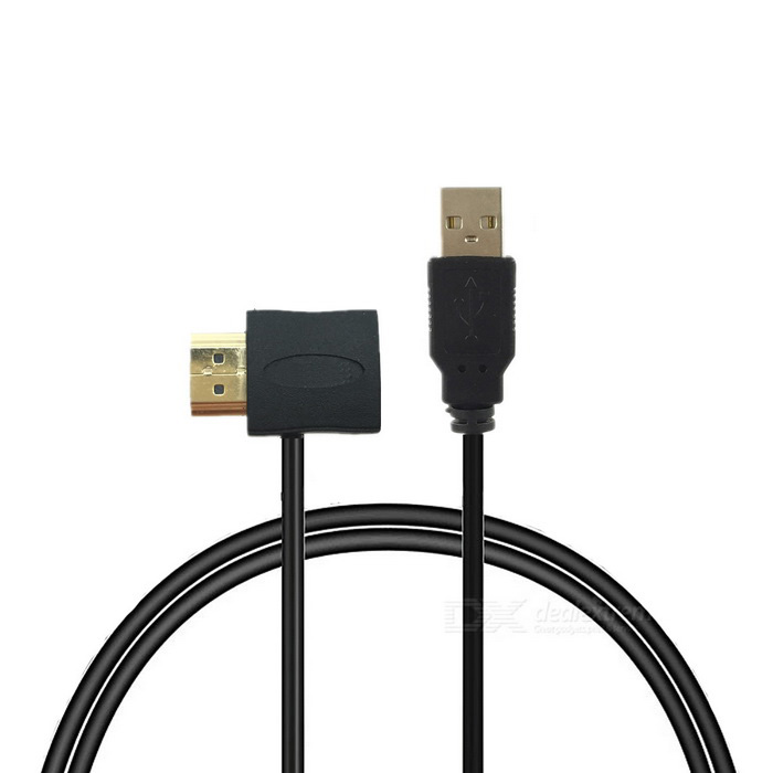 HDMI Male to Female Adapter Connector + USB 2.0 Charging Cable
