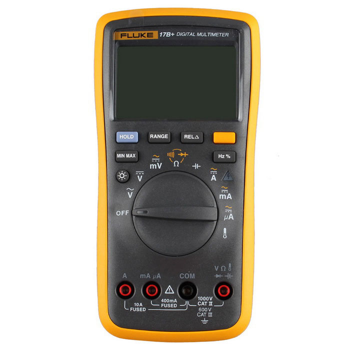 FLUKE F17B+ Auto Digital Multimeter - Orange + Iron Gray