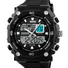 SKMEI 50m Waterproof Double Movement Men's Sports Watch - Black + Silver (1 x CR2016 / 1 x SR626SW)