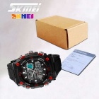 SKMEI 50m Waterproof Double Movement Men's Sports Watch - Black + Red