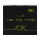4K HDMI Splitter 1x2 Distributes 1 HDMI Source to 2 HDMI Displays Converter - Black (EU Plug)